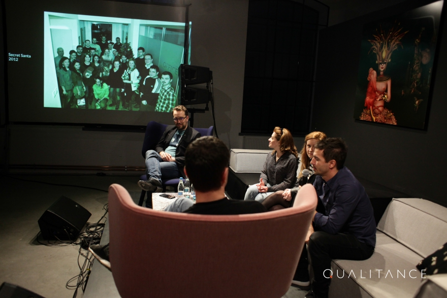 We recalled the most important moments of the first 10 years with a nice talk-show, at All Hands